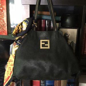 Fendi Black Leather XL Tote 👜